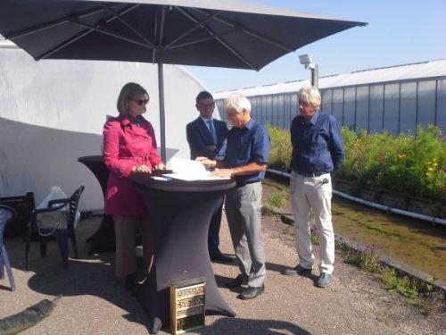 Ondertekening door Michiel Gerritsen voorzitter Greenport Boskoop